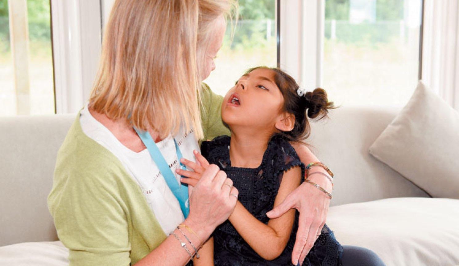 Helen Bennett with child.