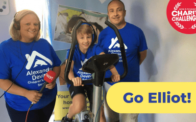 10 year old Elliot takes on mammoth cycle challenge