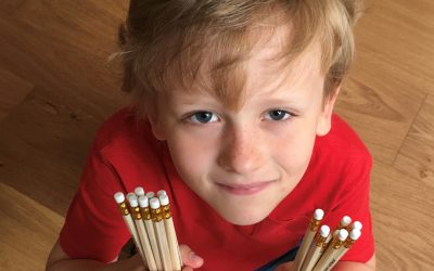 Earley school boy sells pencils to neighbours for charity