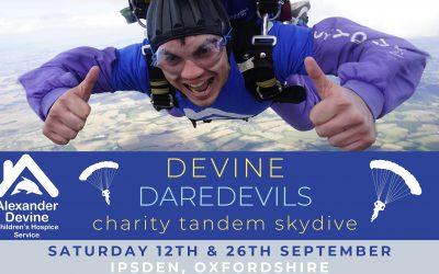 Devine Daredevils Skydive, 12 & 26 September 2020