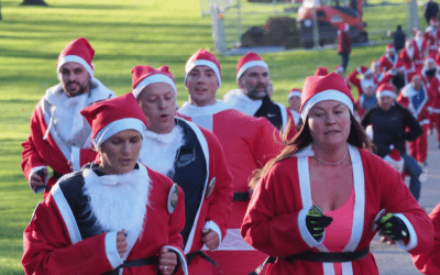 Windsor family take on 4th Santa Dash in memory of daughter